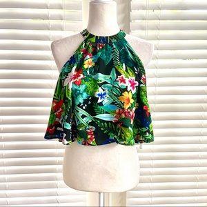 Show Me Your Mumu Medium Green Hawaiian Crop Top